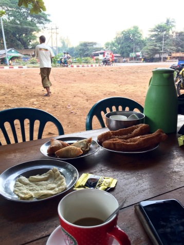 Breakfast before we're heading for Thaton