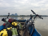 Crossing the Salween river on our way to Hpa-an