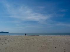Empty beach at Anke
