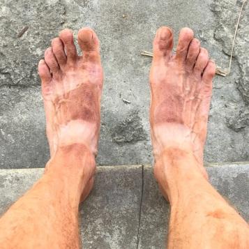 ensuring dusty feet!