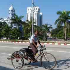 Trishaw driver in Yangon