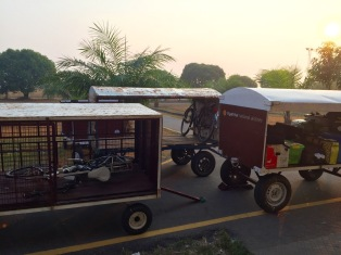 Ready to load onto the plane from Dawei to Yangon